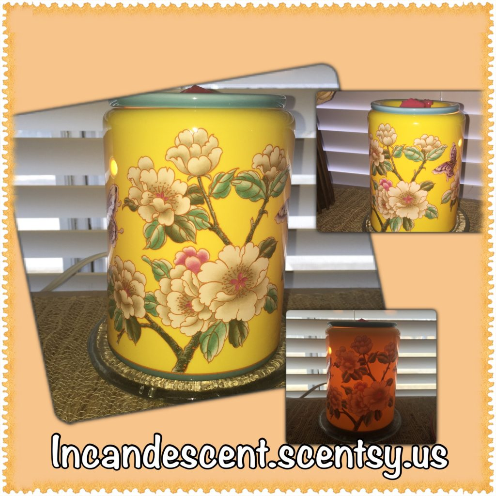 Scentsy Spring/Summer 2015 Madame Butterly Yellow Premium Warmer
