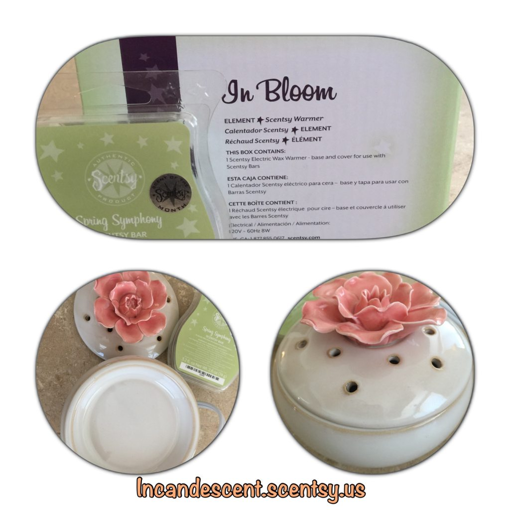 Scentsy April 2015 Warmer of the Month ~ In Bloom and Scent of the Month ~ Spring Symphony
