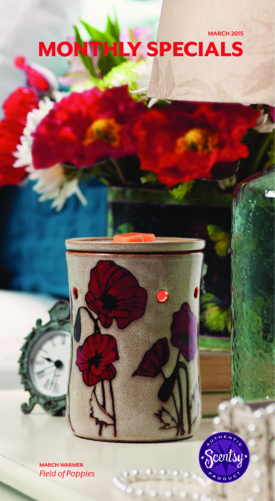 Scents March 2015 Warmer of the Month ~ Field of Poppies
