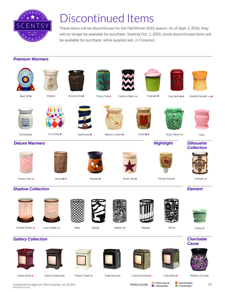 Discontinued Items Scentsy Fall Winter 2015