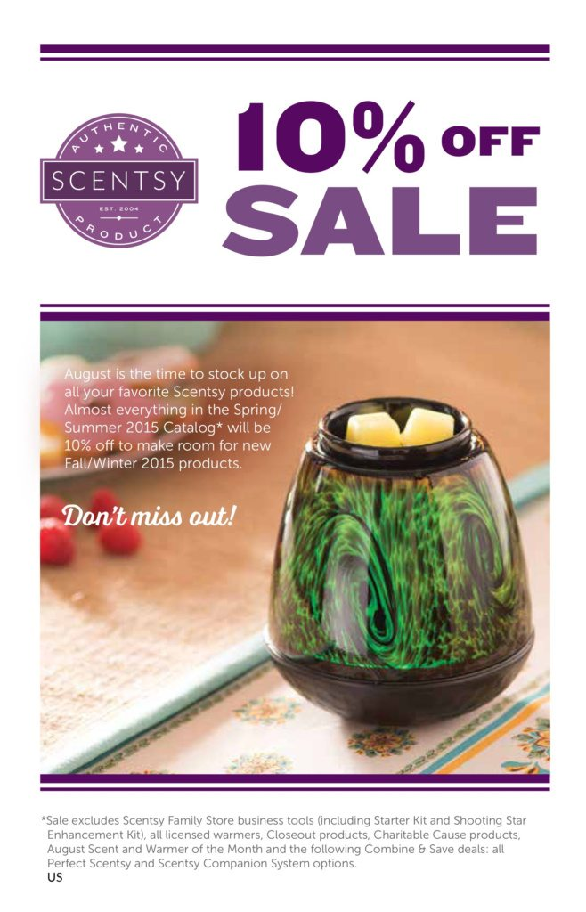 Scentsy August 2015 Sale
