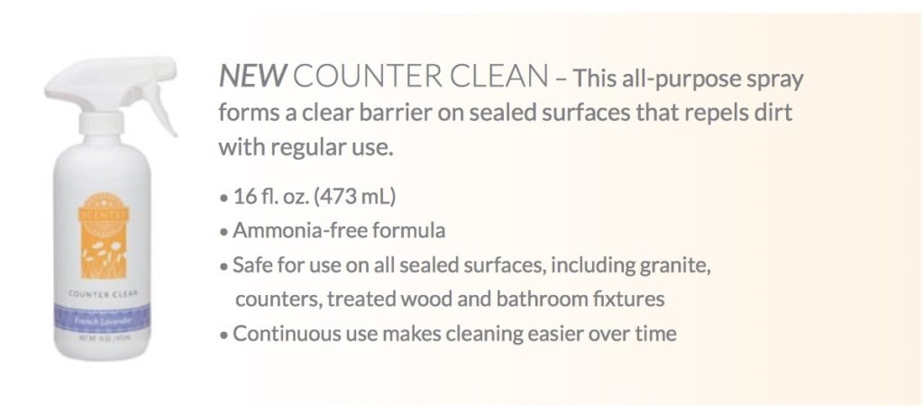 SCENTSY COUNTER CLEAN INFORMATION