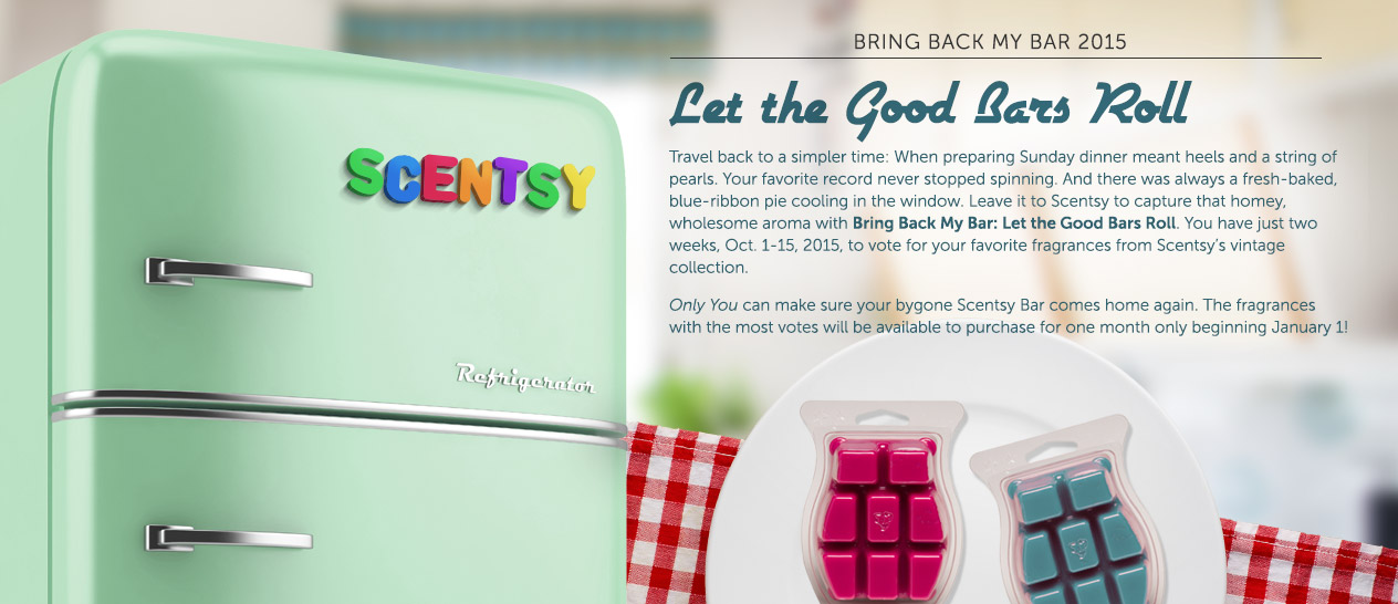 Scentsy Bring Back My Bars 2015 -Vote Now!