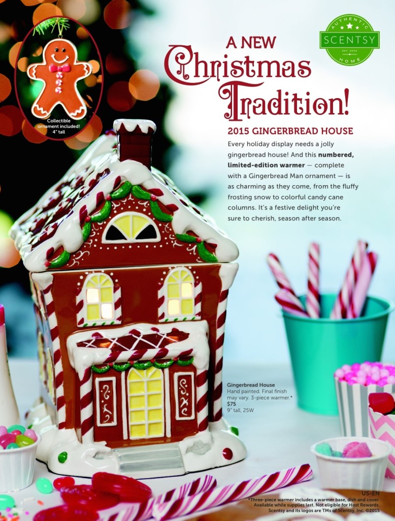 "Gingerbread House Hand painted. Final finish may vary. 3-piece warmer.* $75 9"" tall, 25W"