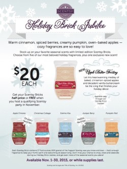 Scentsy 2015 Holiday Brick Jubilee