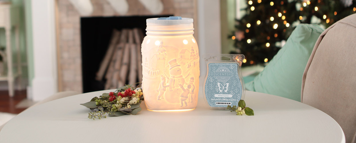 LET IT SNOW SCENTSY WARMER PREMIUM