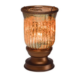 AMBER FLUTED SHADE SCENTSY WARMER