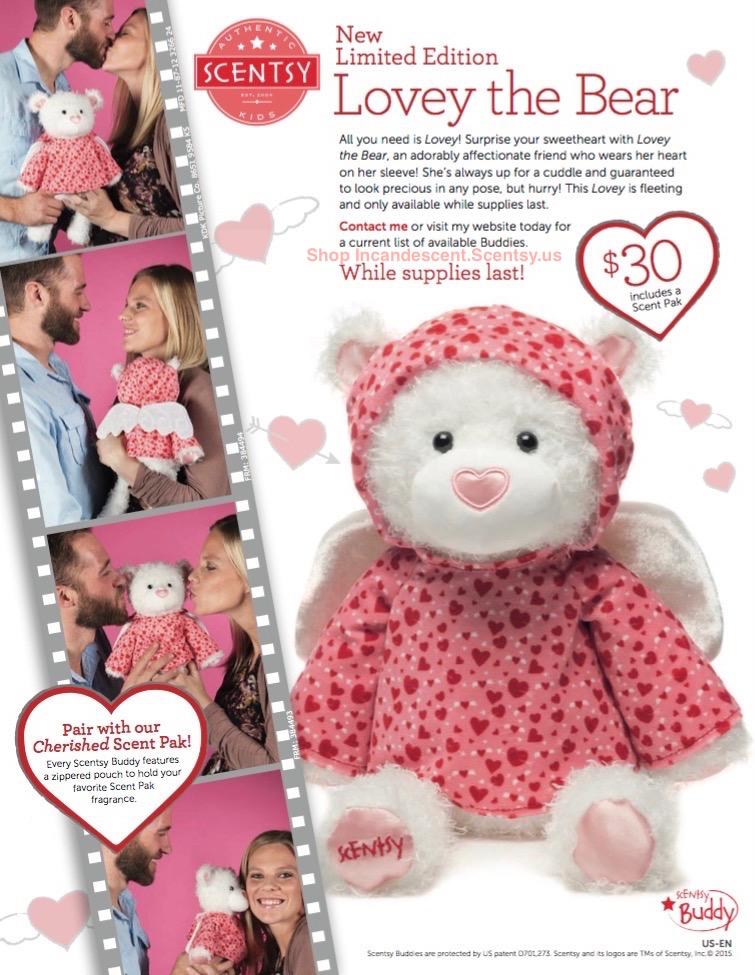 Scentsy Lovey the Bear