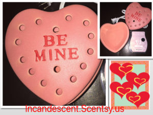 SCENTSY BE MINE WARMER DELUXE AND CHERISHED SCENTSY BAR