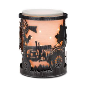 COUNTRYSIDE SCENTSY WRAP WITH ETCHED CORE SCENTSY WARMER