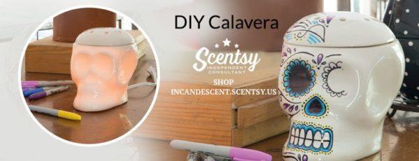 SCENTSY DIY CALAVERA WARMER