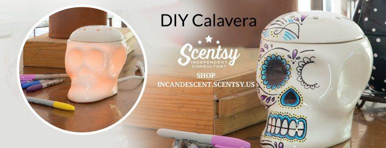 SCENTSY DIY CALAVERA SKULL WARMER
