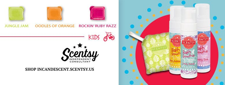 SCENTSY SPRING / SUMMER 2016 KIDS FRAGRANCES OODLES OF ORANGE, JUNGLE JAM, ROCKIN' RUBY RAZZ
