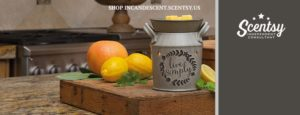 LIVE SIMPLY SCENTSY WARMER 2016