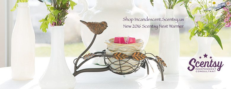New Scentsy SPRING/ SUMMER 2016 - SCENTSY BIRD NEST WARMER
