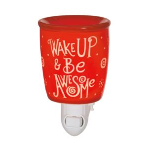 Wake up & Be Awesome Scentsy Warmer Nighlight