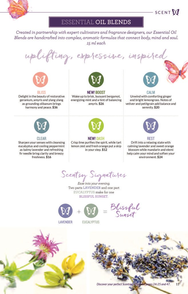 SCENTSY SPRING / SUMMER 2016 ESSENTIAL OIL BLENDS