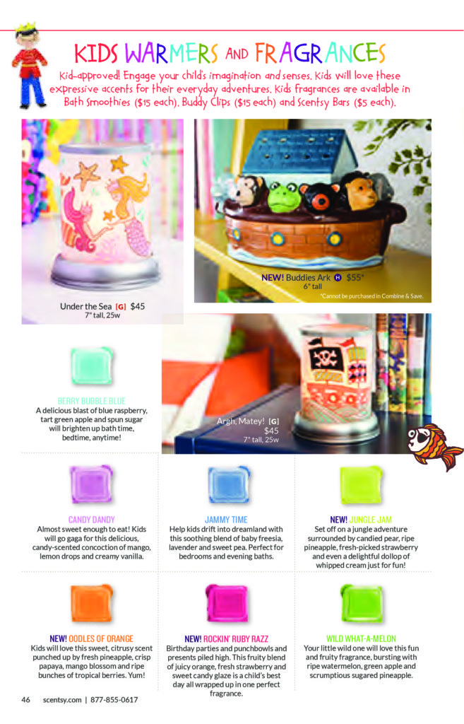 SCENTSY SPRING / SUMMER 2016 KIDS SCENTSY WARMERS & KIDS SCENTSY FRAGRANCES