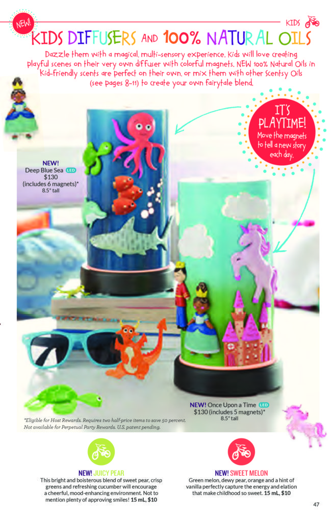 SPRING / SUMMER 2016 SCENTSY CATALOG / KIDS SCENTSY DIFFUSERS