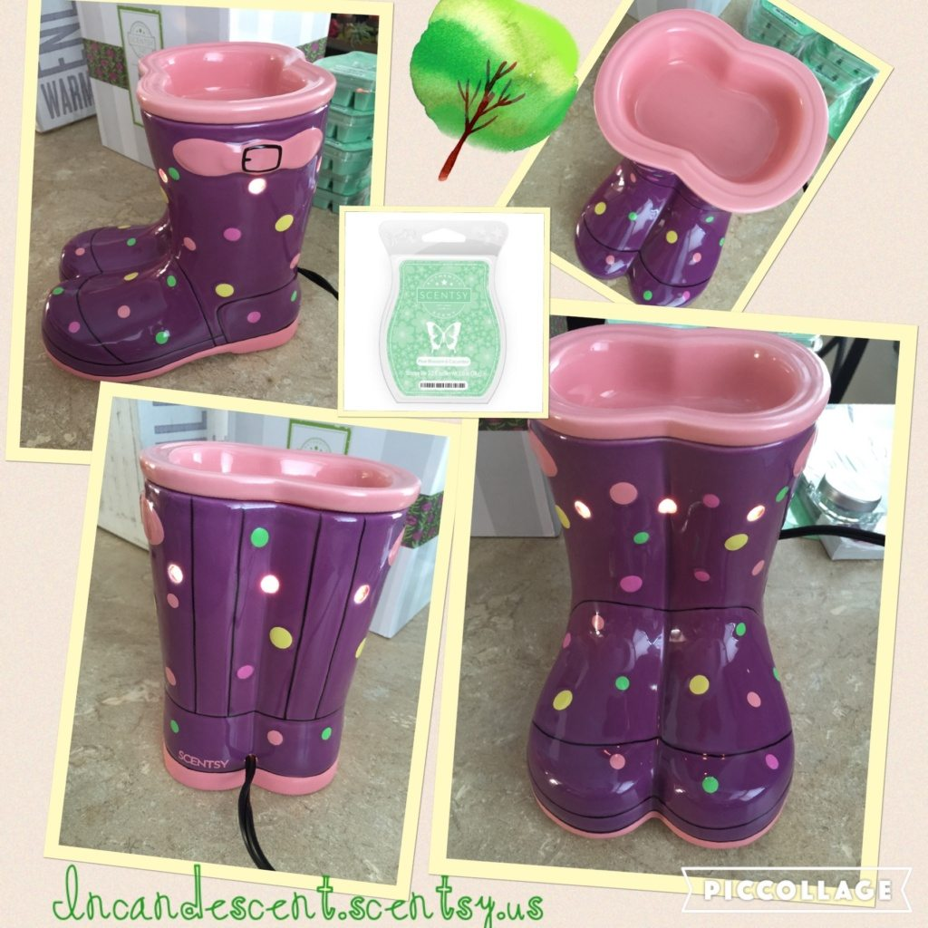Scentsy Wellies Boots and Pear Blossom & Cucumber! | Scentsy February 2016 Warmer and Scent of the Month ~ Wellies Spring Boots Warmer and Pear Blossom & Cucumber Fragrance