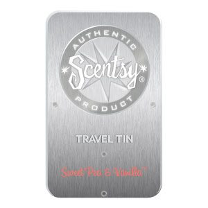SWEET PEA & VANILLA SCENTSY TRAVEL TIN