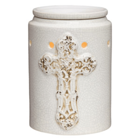 ANTIQUE CROSS SCENTSY WARMER DELUXE