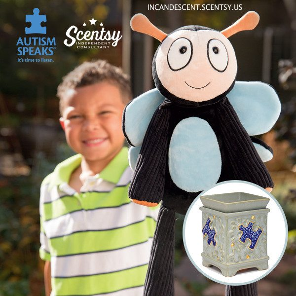 AUTISM SPEAKS SCENTSY WARMER, AUTISM SPEAKS SCENTSY BUDDY BERNIE THE BUDDERFLY