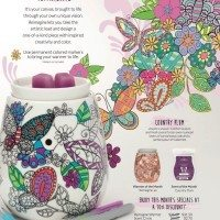 SCENTSY APRIL 2016 WARMER & SCENT OF THE MONTH. REIMAGINE WARMER & COUNTRY PLUM FRAGRANCE.