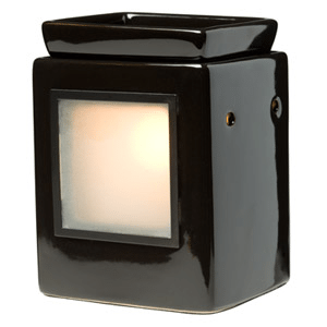 CUBE EBONY GALLERY SCENTSY WARMER (WITHOUT FRAME) | SHOP SCENTSY CLOSEOUT / SALE - GALLERY WARMER AND FRAMES
