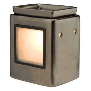 CUBE GUNMETAL GALLERY SCENTSY WARMER (WITHOUT FRAME)