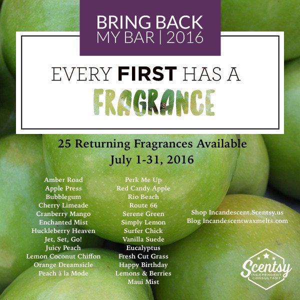 Scentsy BBMB List July 2016