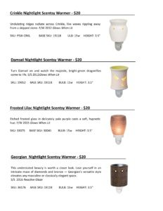 Warmer Info Cards SS 16-page-033   Scentsy Spring/Summer 2016 Product Catalog Cards