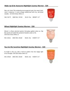 Warmer Info Cards SS 16-page-038   Scentsy Spring/Summer 2016 Product Catalog Cards