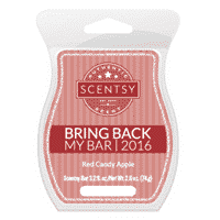 RED CANDY APPLE BRING BACK MY SCENTSY BAR 2016