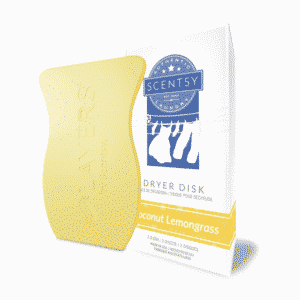 COCONUT LEMONGRASS SCENTSY DRYER DISKS
