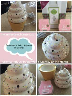 SCENTSY JULY 2016 WARMER & SCENT OF THE MONTH