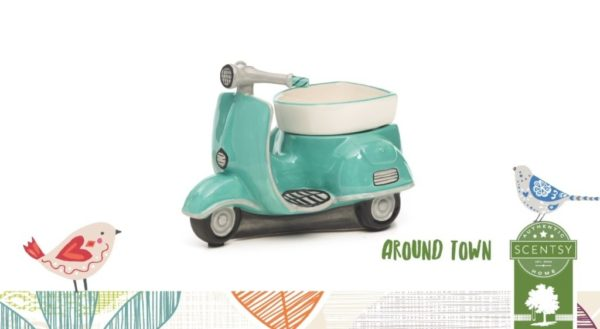 AROUND TOWN RETRO SCOOTER SCENTSY WARMER