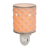 DIAMOND MILK GLASS SCENTSY NIGHTLIGHT WARMER