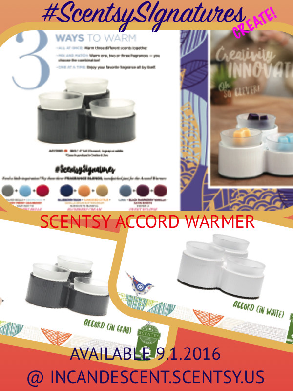 SCENTSY ACCORD WARMER SCENTSY SIGNATURES