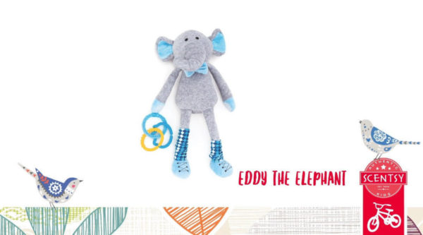 NEW! EDDY THE ELEPHANT SCENTSY SIDEKICKS