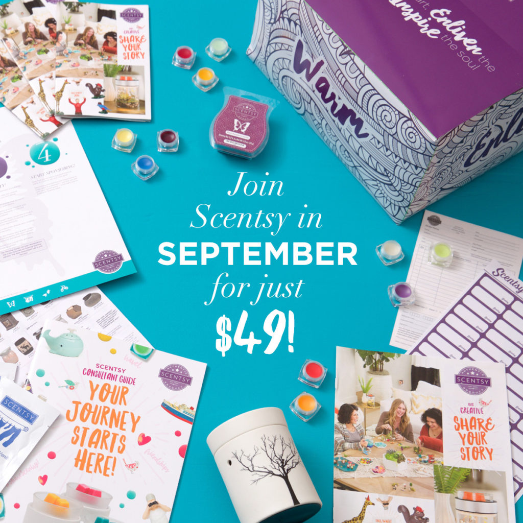 JOIN SCENTSY SEPTEMBER 2016 $49