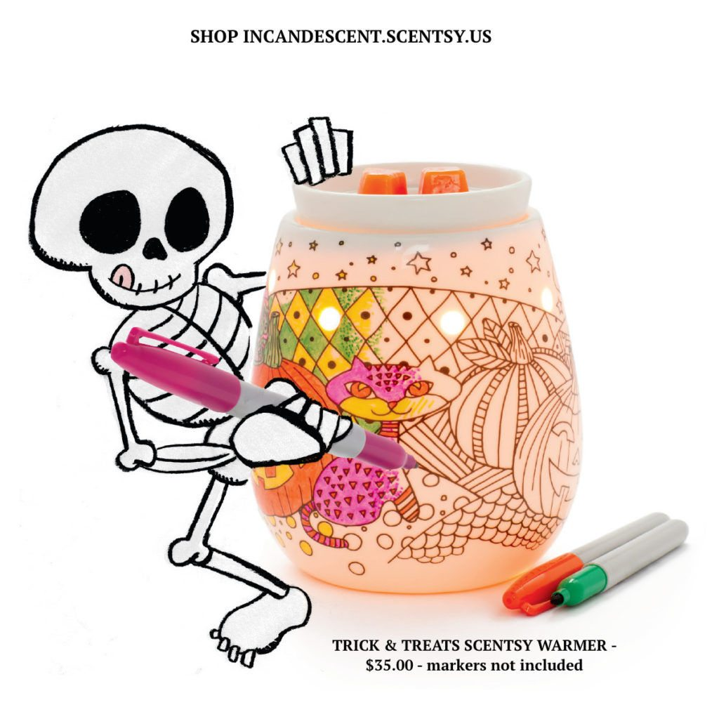 Trick Treats Coloring Scentsy Warmer Halloween