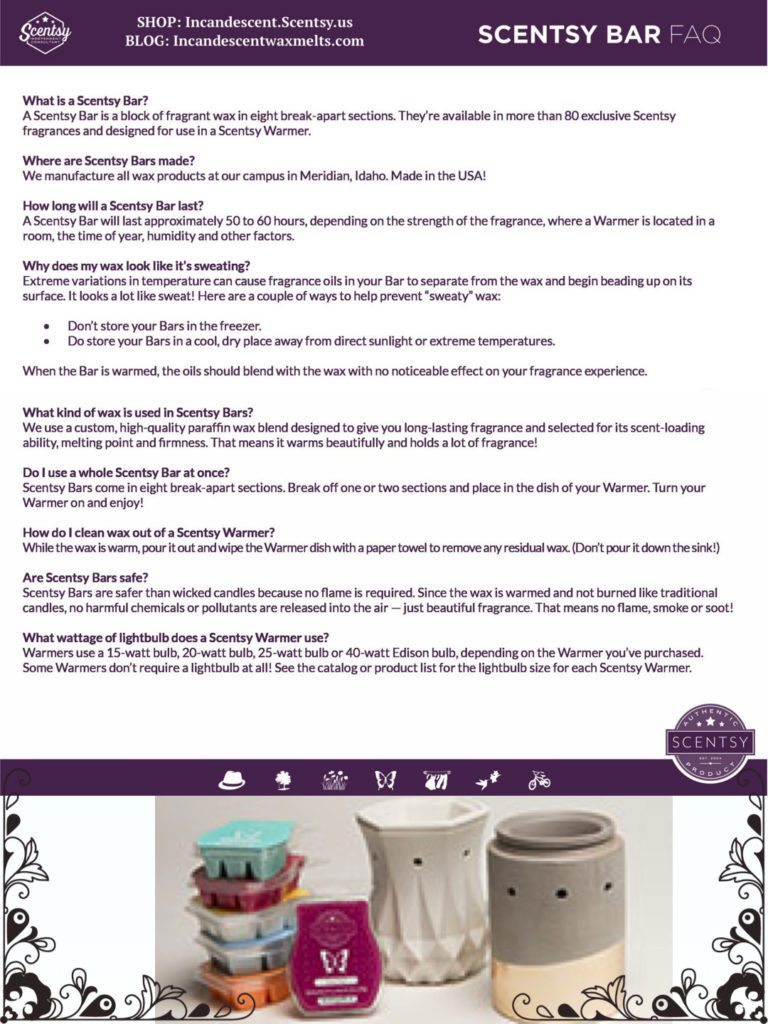 how long does a scentsy bar last buy scentsy online scentsy warmers and scents. Black Bedroom Furniture Sets. Home Design Ideas