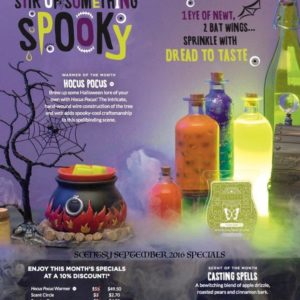 SCENTSY SEPTEMBER WARMER & SCENT OF THE MONTH HOCUS POCUS CASTING SPELLS