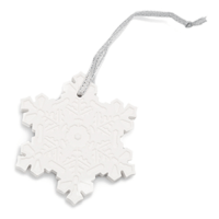 VERY SNOWY SPRUCE SNOWFLAKE CHRISTMAS SCENTSY ORNAMENT