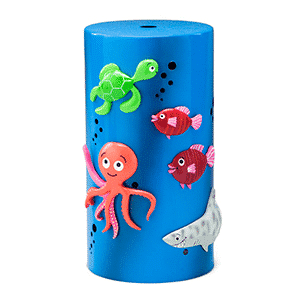 DEEP SEA BLUE SCENTSY DIFFUSER SHADE ONLY