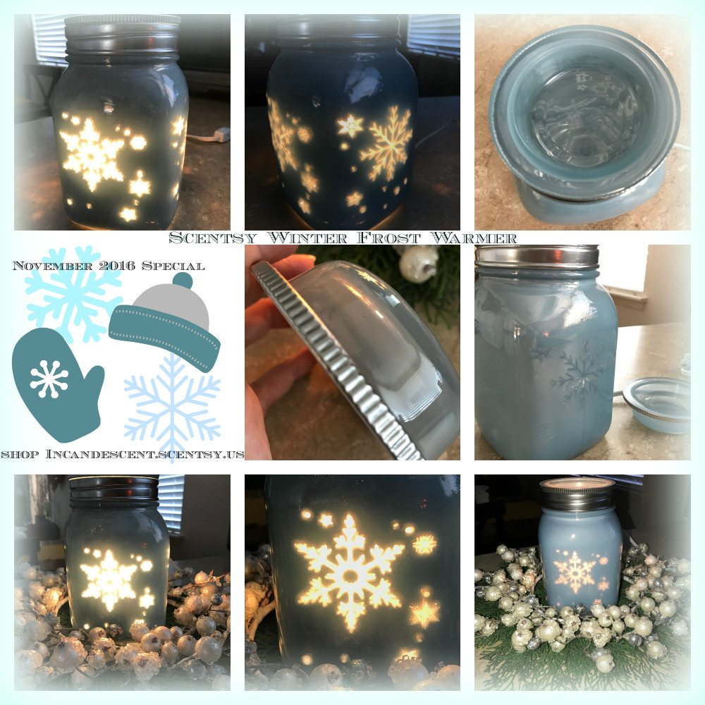 ... WARMER & SCENT OF THE MONTH Scentsy Mason Jar Wax Warmers WINTER FROST