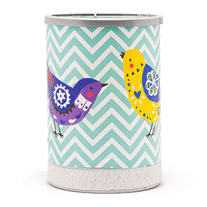 CHEVRONS AND SONGBIRDS LAMPSHADE SCENTSY WARMER