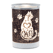I HEART CATS LAMPSHADE SCENTSY WARMER | DISCONTINUED
