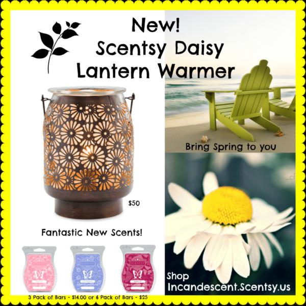 SCENTSY DAISY LANTERN   NEW! DAISY LANTERN SCENTSY WARMER   Shop Scentsy   Incandescent.Scentsy.us